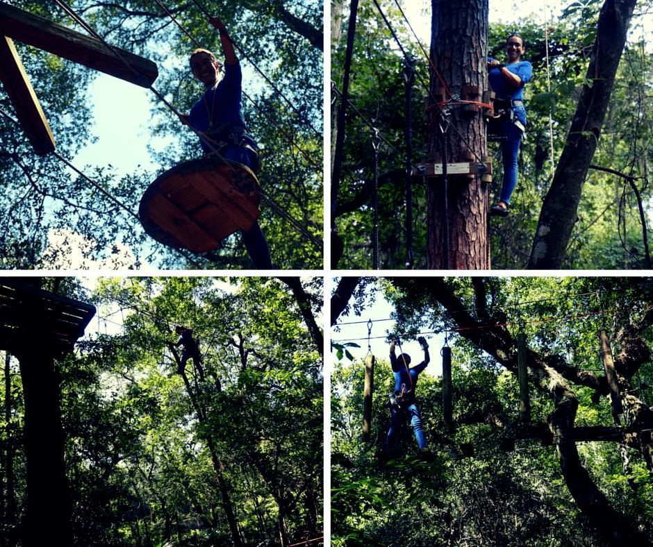 ziplining at Tallahassee Museum