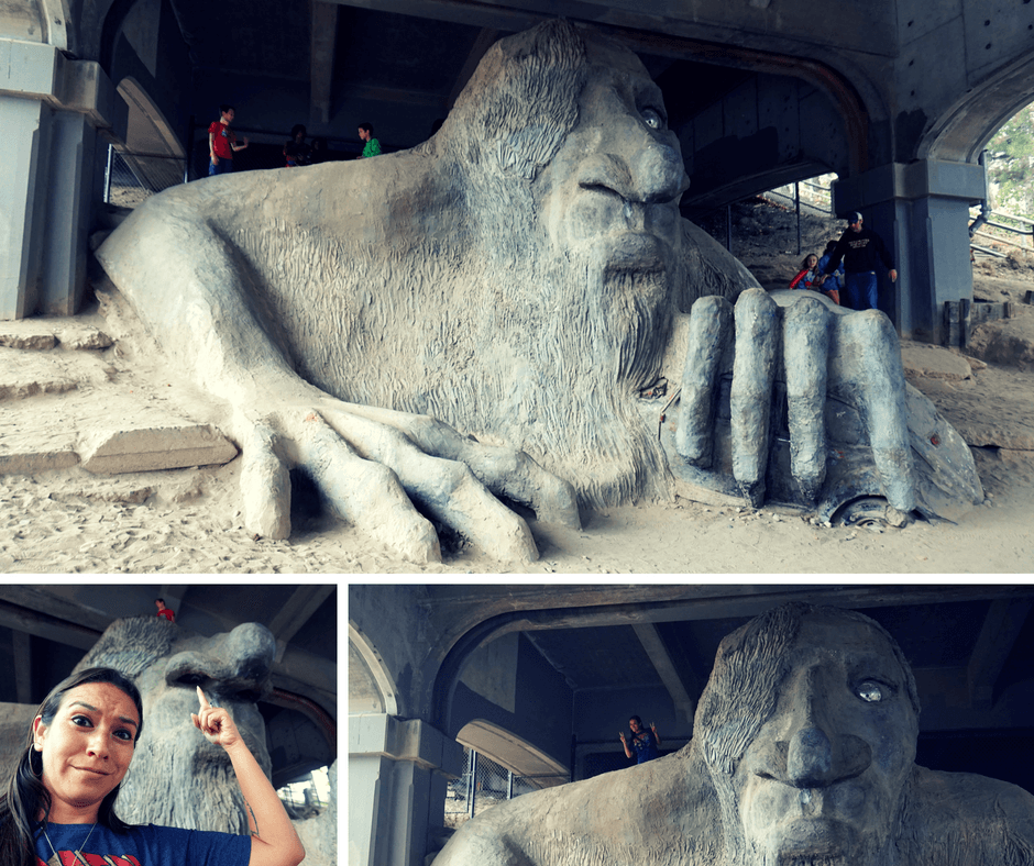 The Fremont Troll in Seattle