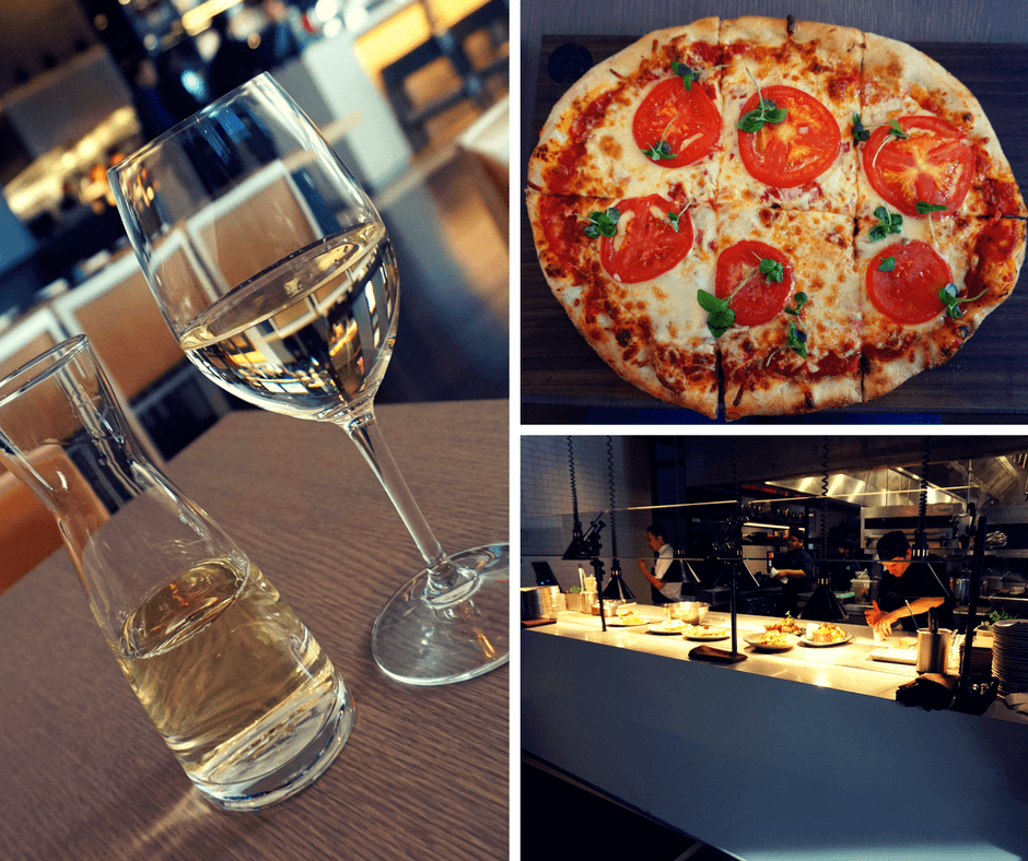 The SOCO Kitchen + Bar Delta Hotel Toronto has pizza and wine and chefs that cook right in front of you.