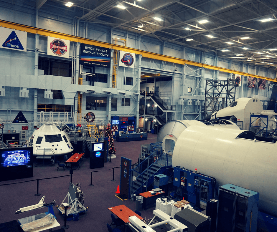 Inside Building 9 of Space Center Houston