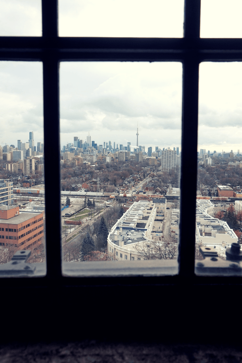 View of Toronto from a tower in Casa Loma Toronto