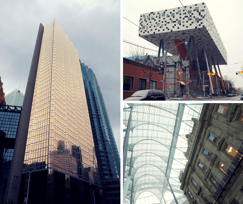 Royal Bank Plaza building, Sharp Centre at the Ontario College of Art and Design, Brookfield Place architecture Toronto