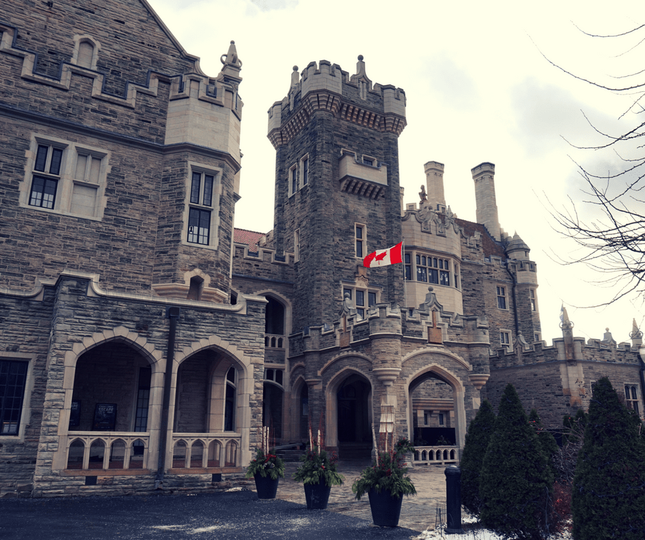 outside of Casa Loma in Toronto
