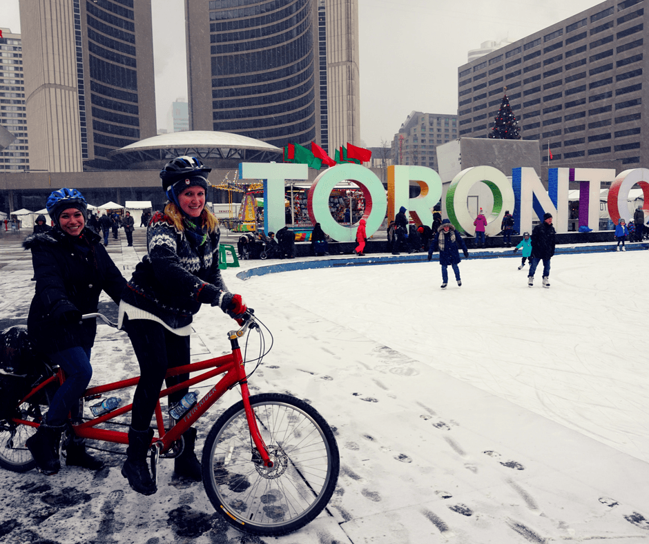 Nathan Phillips Square and Toronto sign
