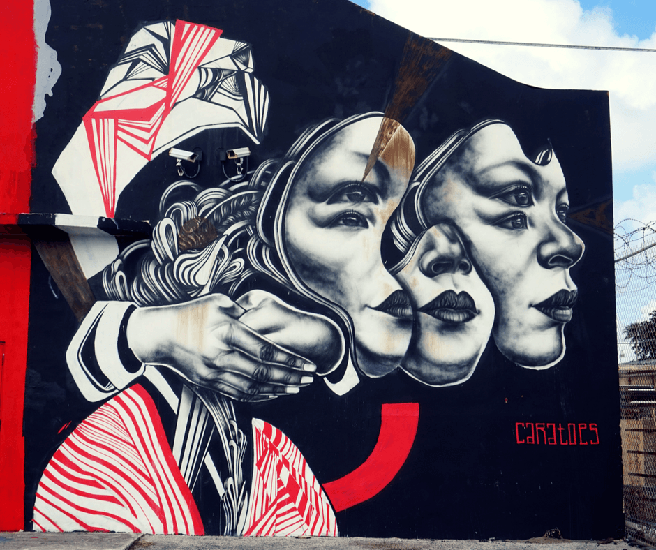 Mural by Caratoes in Wynwood