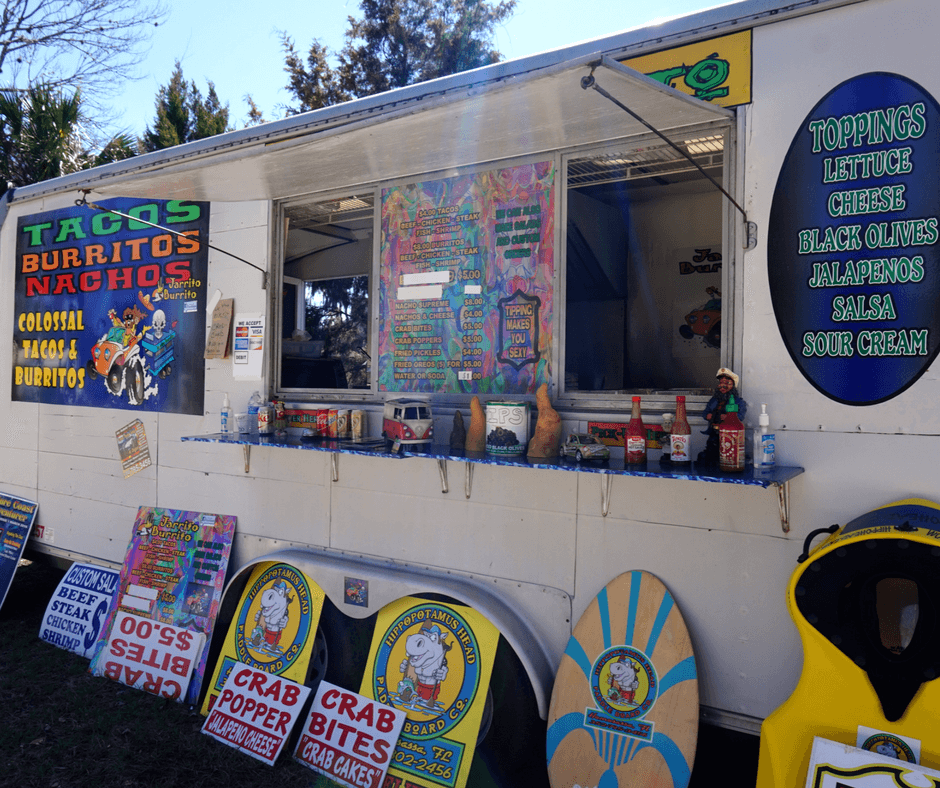 Jarrito Burrito food truck at Three Sisters Springs in Crystal River Florida
