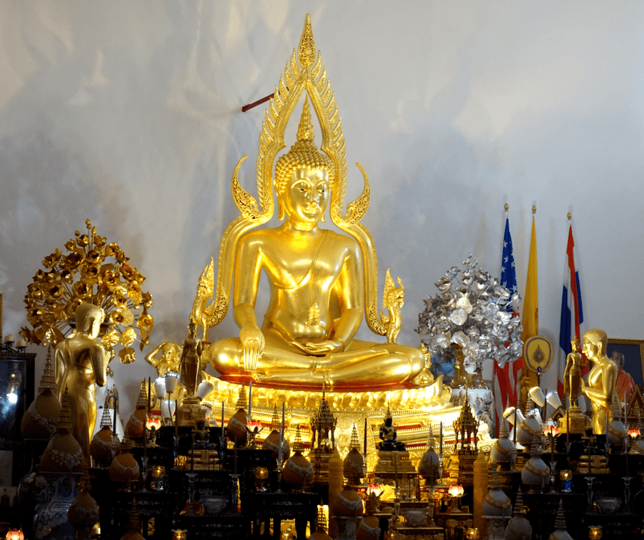 statues inside Wat Buddharangsi Buddhist Temple of Homestead