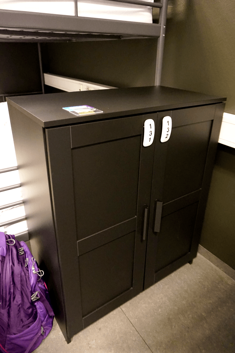 large locker provided at the galaxy pod hostel