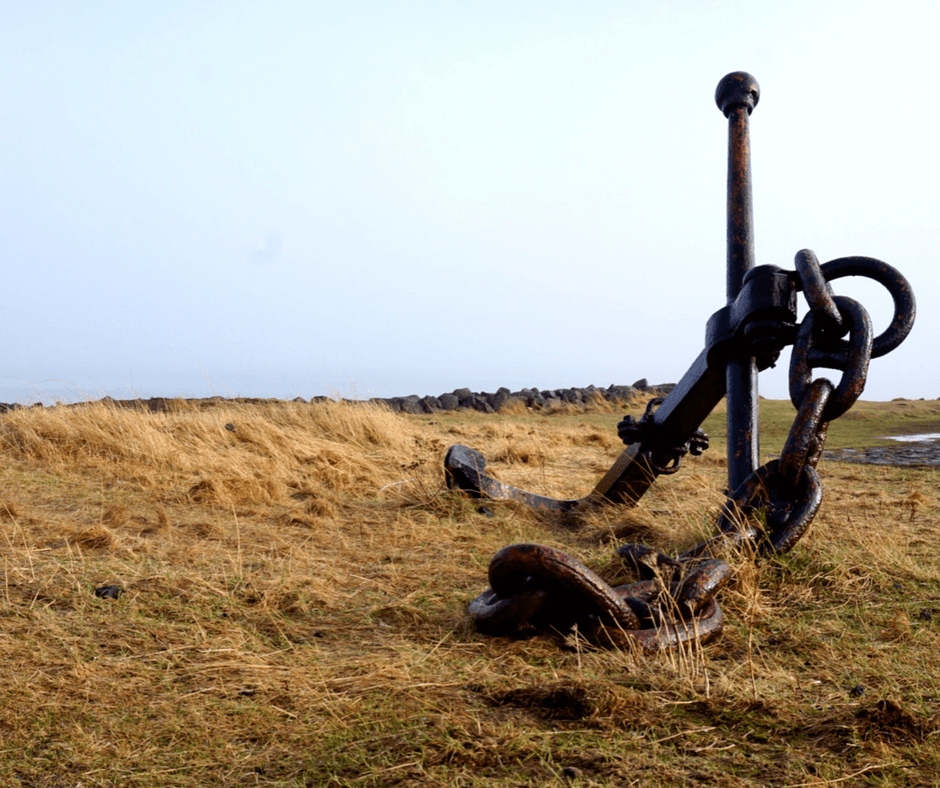 old anchor by Grotta Lighthouse