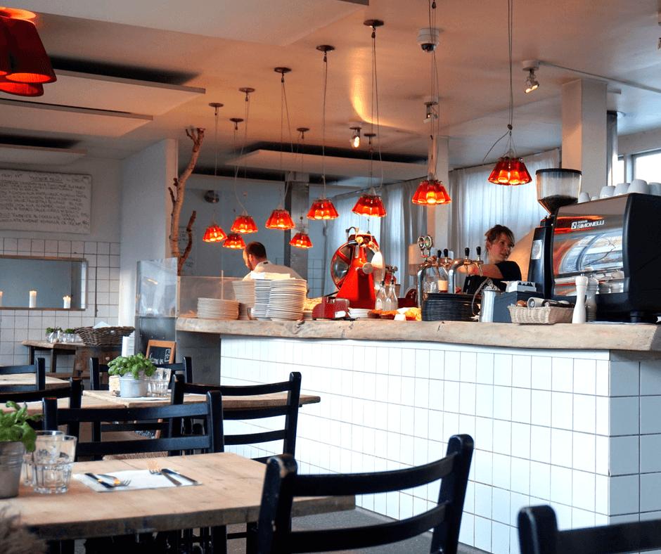 kitchen area at mother italian restaurant in copenhagen