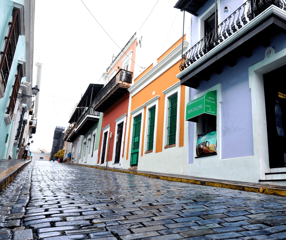 colorful architecture in old san juan