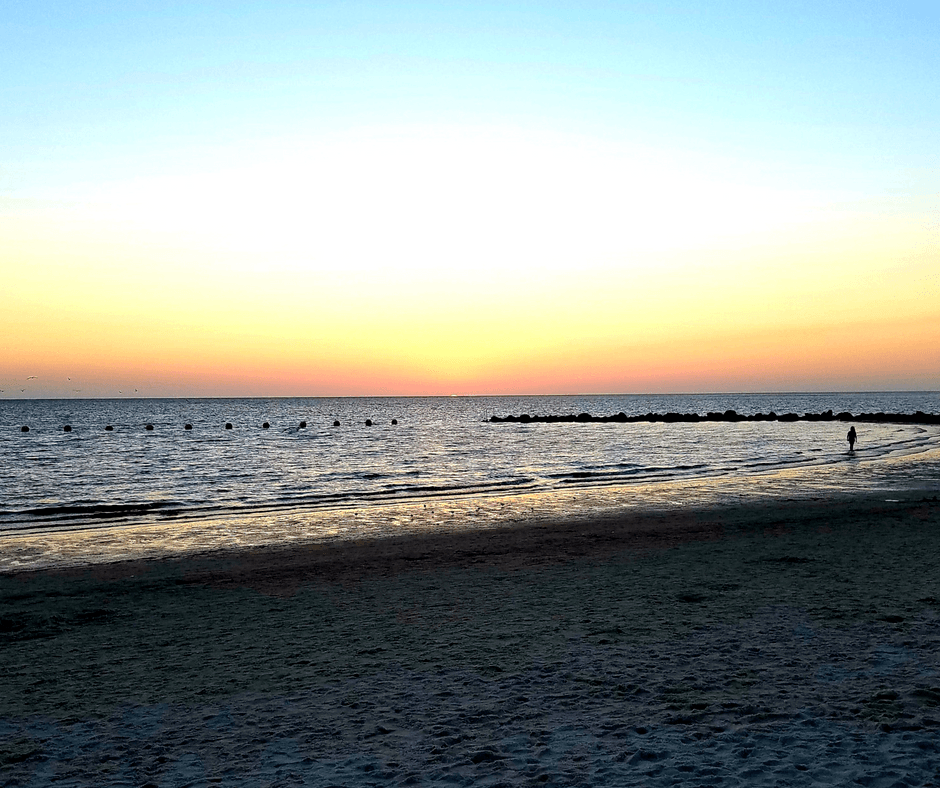 Sunset at Fort Island Beach in Crystal River Florida