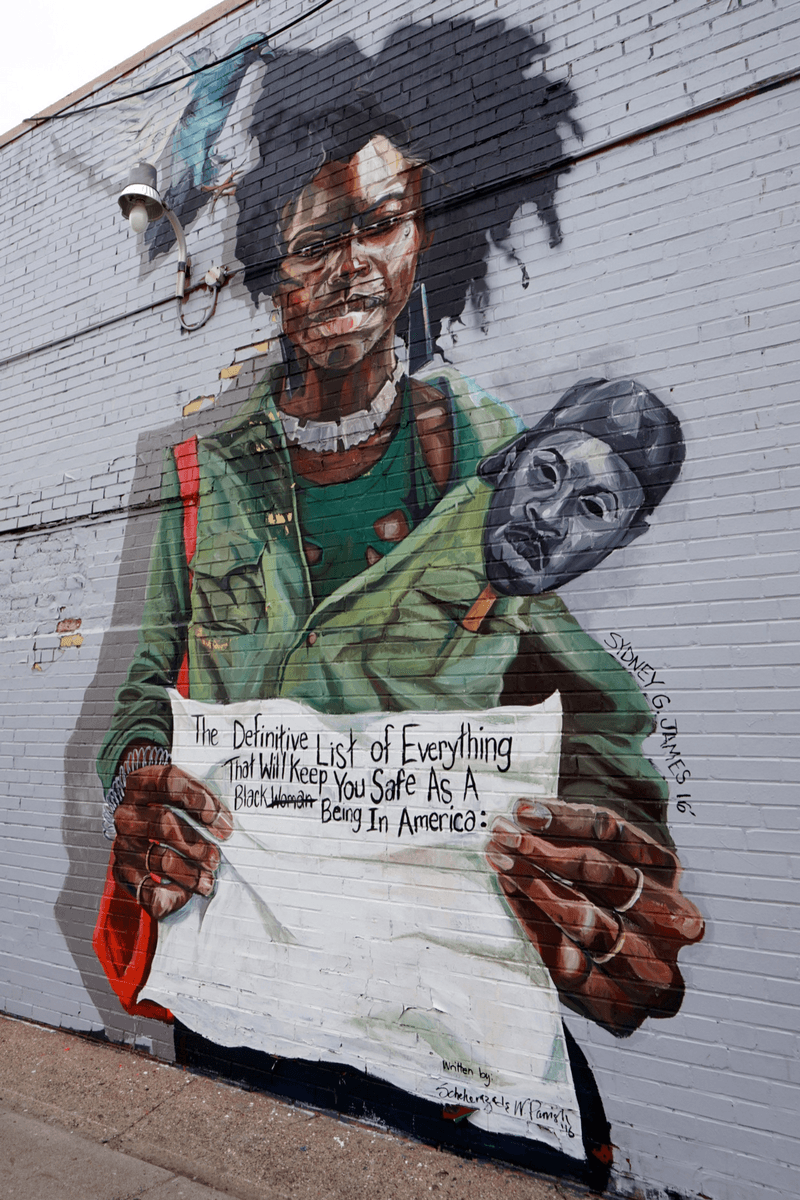 mural in the market by Sydney James