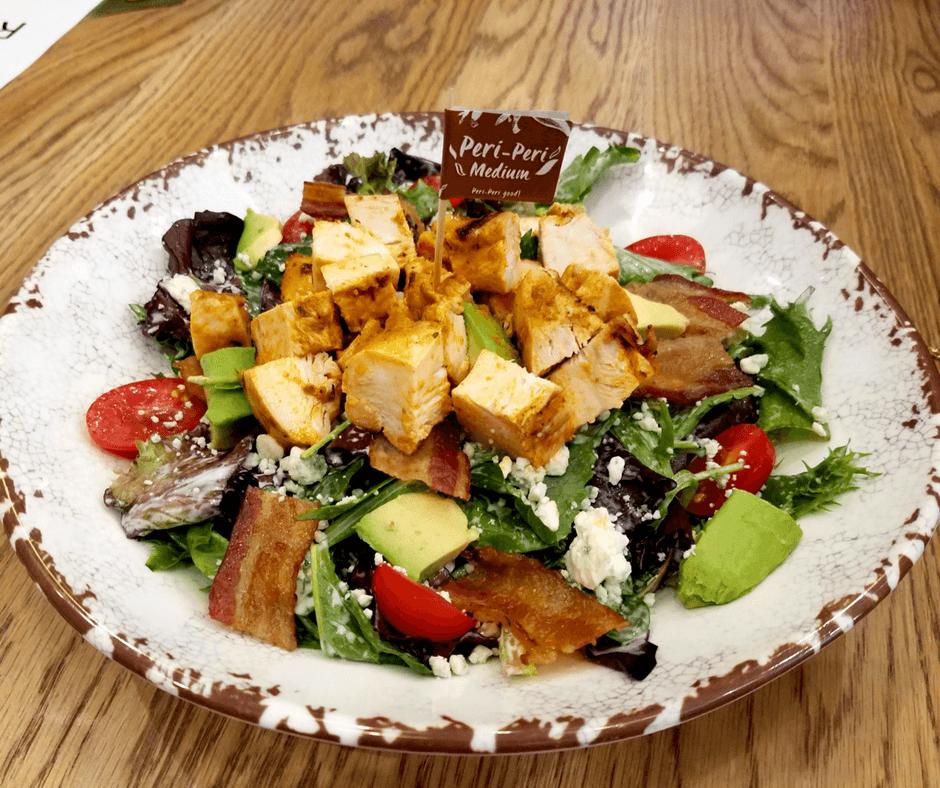 Spatch Peri-Peri Chicken cobb salad