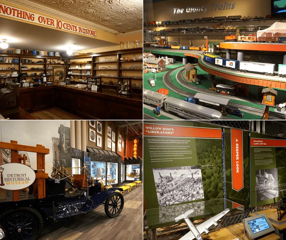 inside the Detroit Historical museum