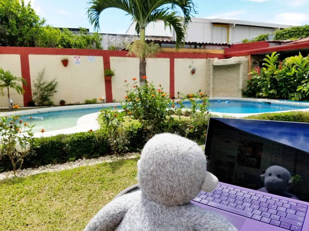 Working poolside in Costa Rica