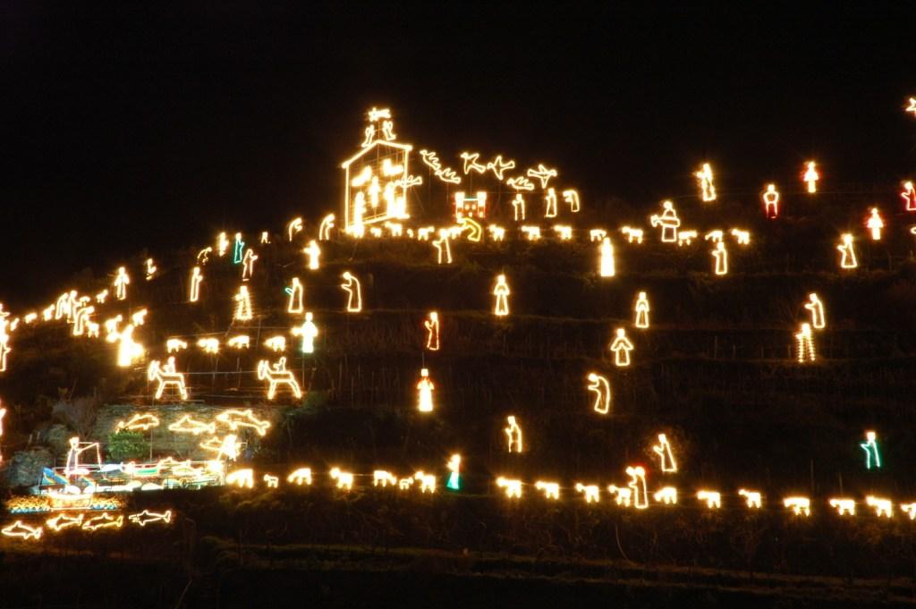 Cinque Terre holiday lights