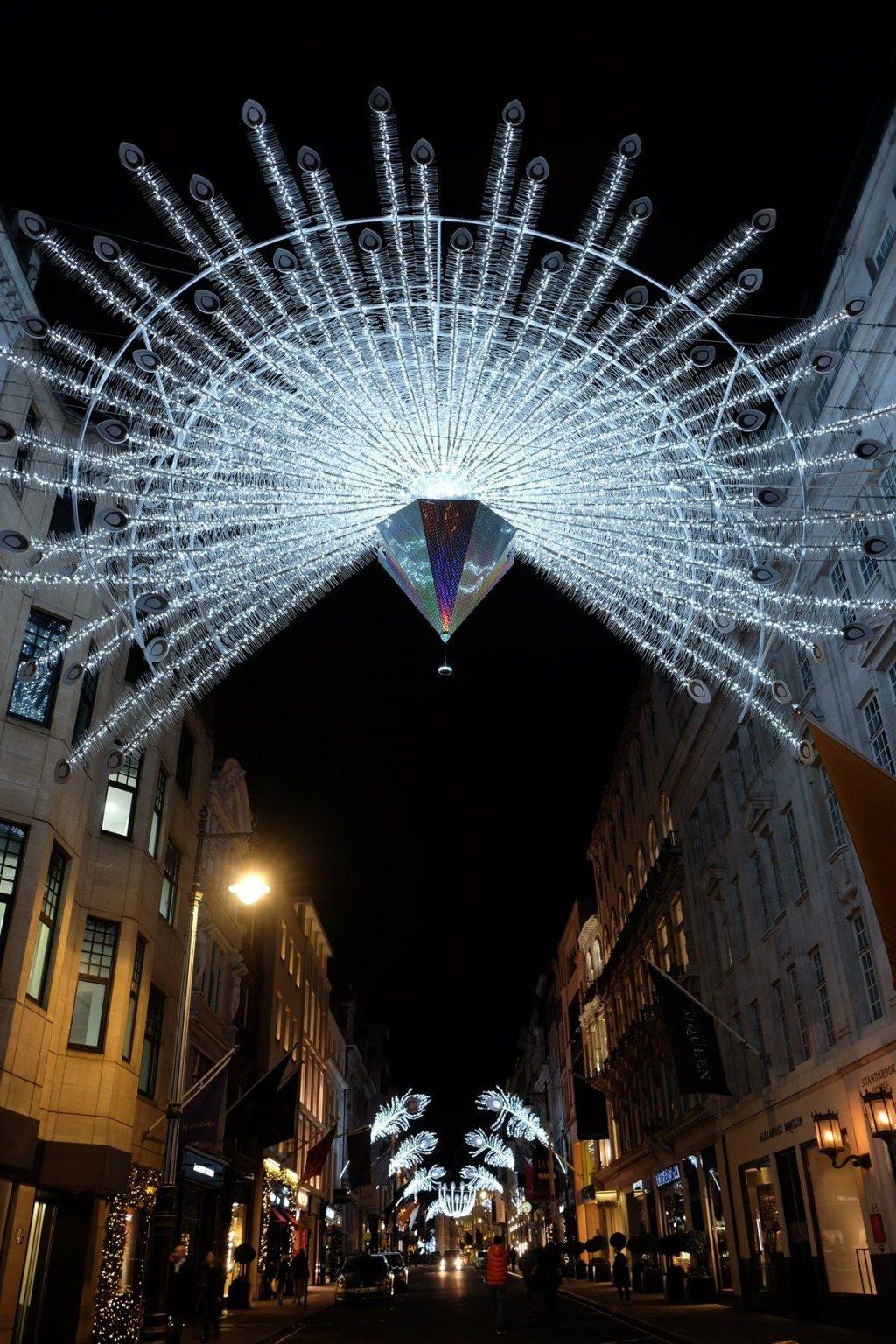 Regent Street holiday lights in London