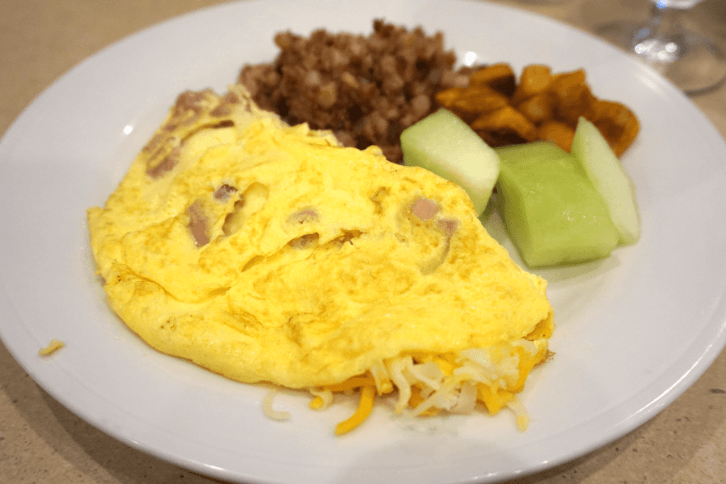 Cooked to order omelette at Hilton Garden Inn Palm Beach Gardens