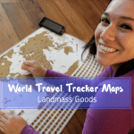 World Travel Tracker Map By Landmass Goods