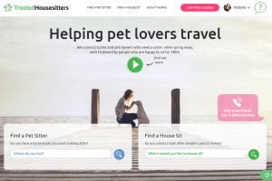 Trusted Housesitters homepage
