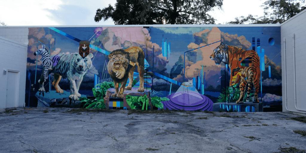 Juan Travieso and Miguel Machado, Duo Cubano mural in Gainesville