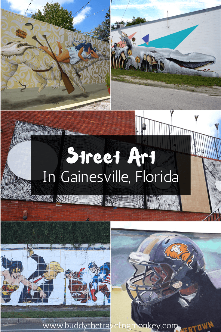 Gainesville, Florida has a growing urban art scene, with new street art and murals popping up all around the city.
