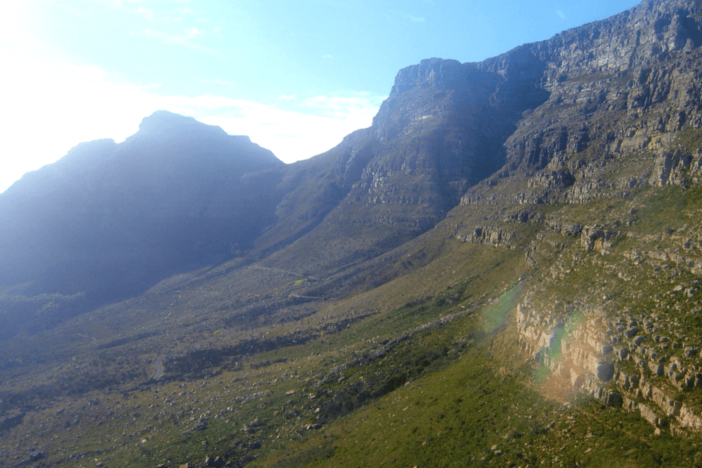 The view as we went up on the Table Mountain cableway