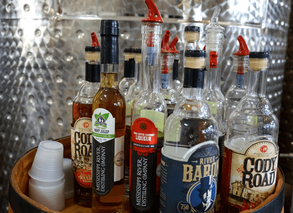 Lots of tasty spirits at Mississippi River Distilling Company