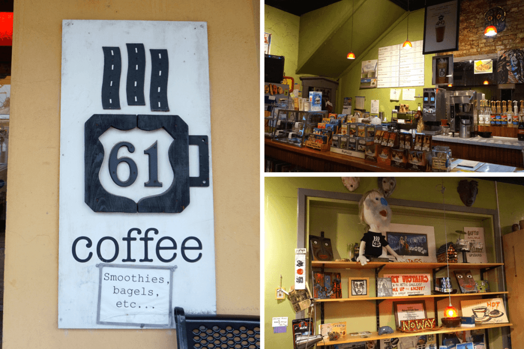 Highway 61 Coffeehouse is a really cute coffee shop in Vicksburg MS