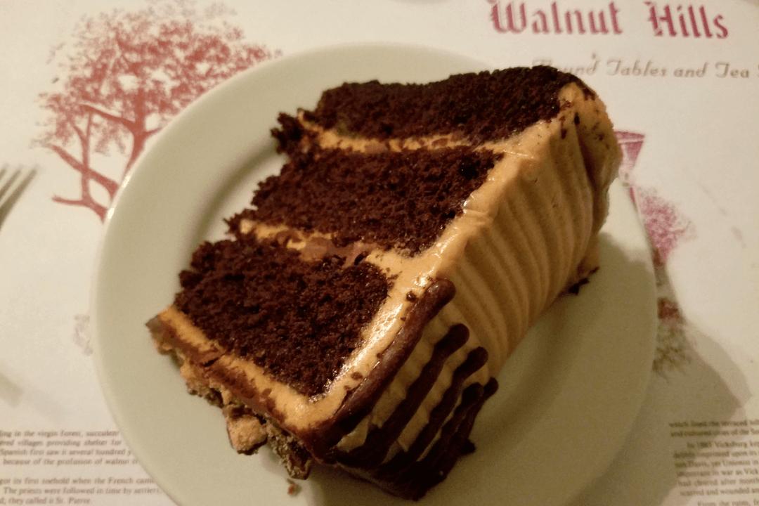 peanut butter chocolate cake at Walnut Hills
