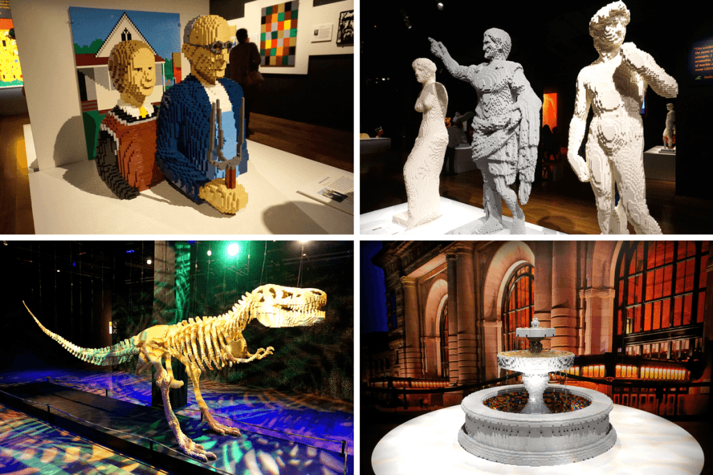 The Art of the Brick exhibit was there during our visit to Union Station