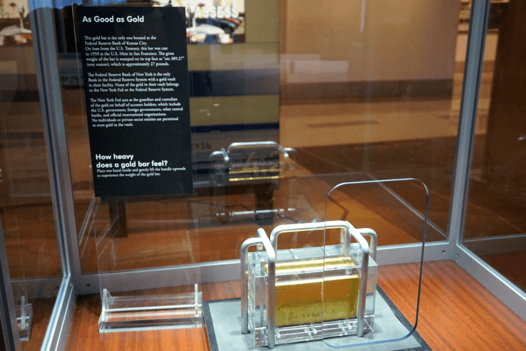 Gold bar at the Museum of Money in Kansas City