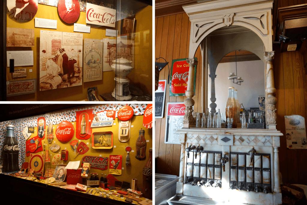 The Biedenharn Coca-Cola Museum has a lot of fun items, including an original soda fountain!