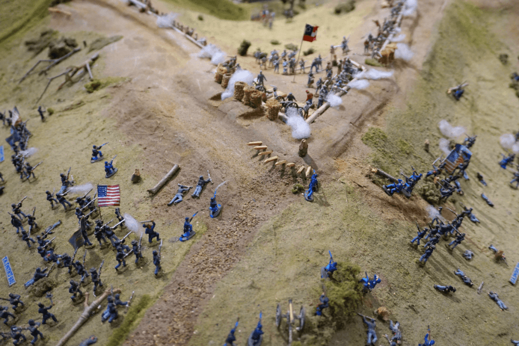 This diorama of the Siege of Vicksburg helped us to really see how big the battle was