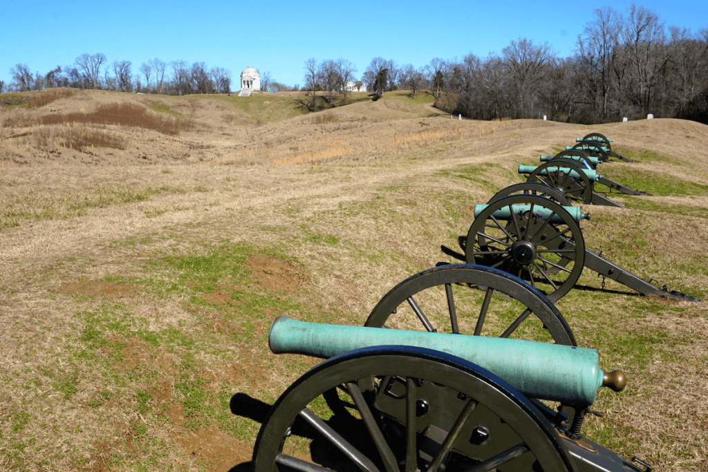 Visitors to the Vicksburg National Military Park can see exactly where some of the most gruesome battles took place