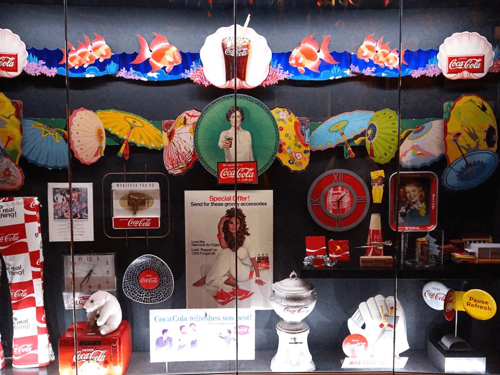 Coca-Cola artifacts at World of Coca-Cola