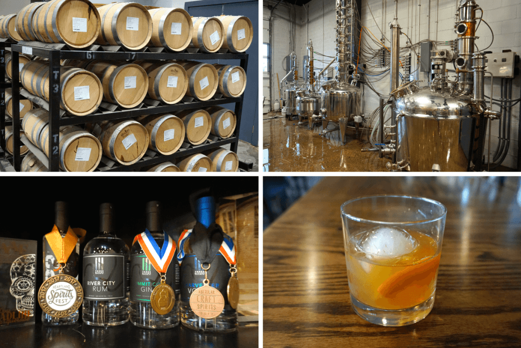 Three Rivers Distilling Co. is one of the most fun things to do in Fort Wayne for adults
