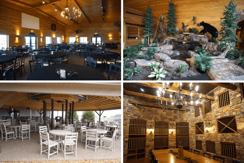 Country Heritage Winery has great spaces to enjoy their wine