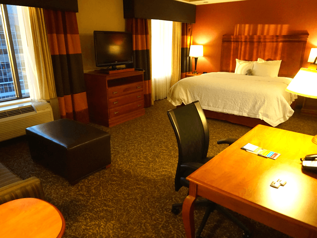 Our suite at the Hampton Inn Pittsburgh Downtown
