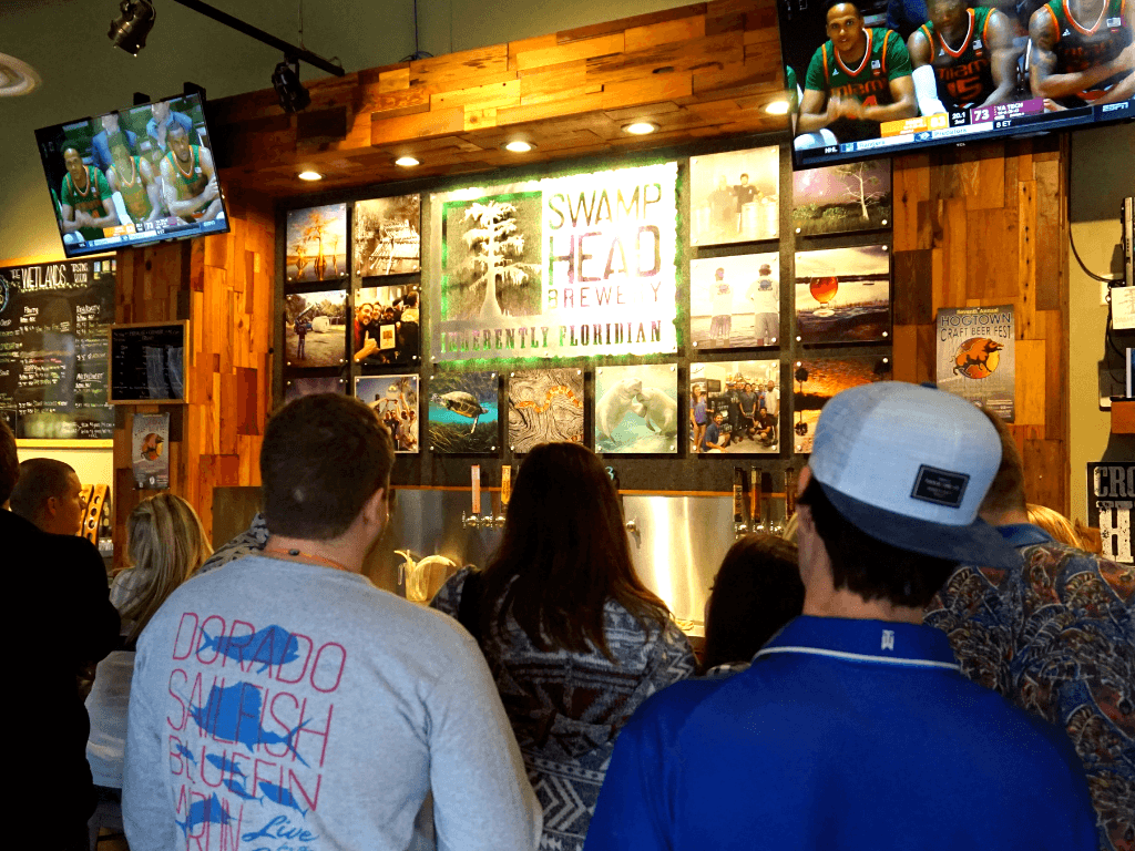 "The Swamp Head Brewery tasting room is called ""The Wetlands"""