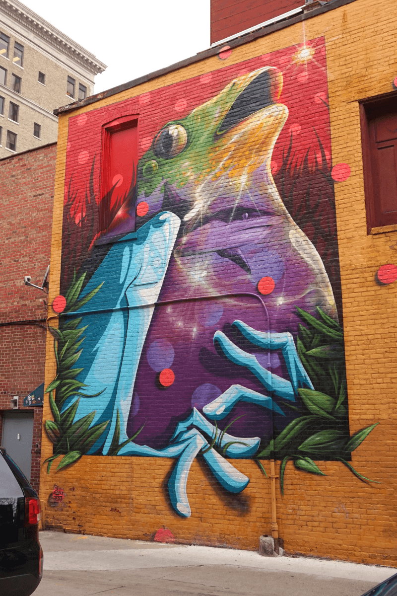 One of two murals by Noségo in Fort Wayne