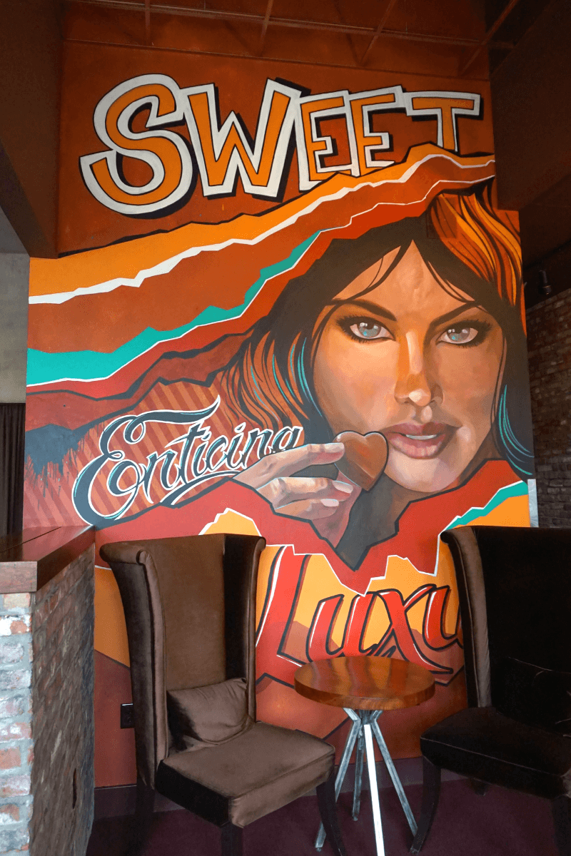 Mural inside the DeBrand Fine Chocolates downtown location