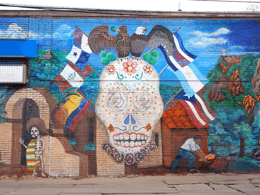 This mural shows the diversity in Lincoln Nebraska