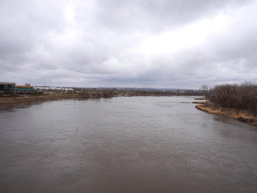 View of the Missouri River from the Bob Kerrey Pedestrian Bridge