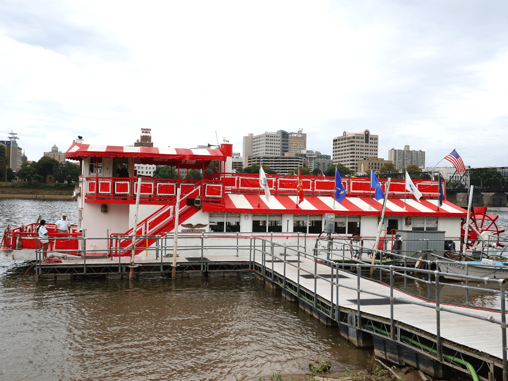 The Pride of Susquehanna Riverboat takes off from the City Island Dock