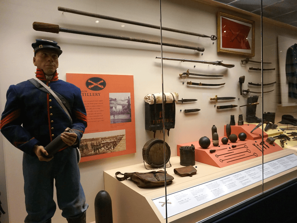 The national civil war museum has over 4,400 artifacts