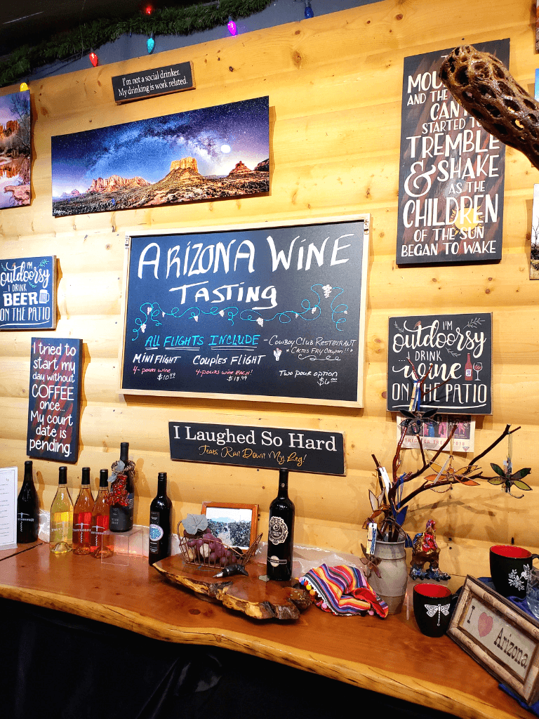 Made in Arizona Wine and Gifts is great for Sedona wine tasting