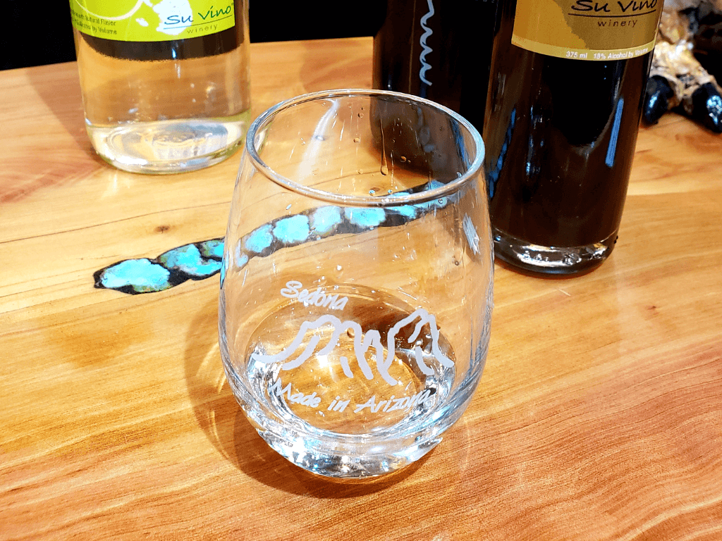 We loved our glass at Made in Arizona Wine and Gifts