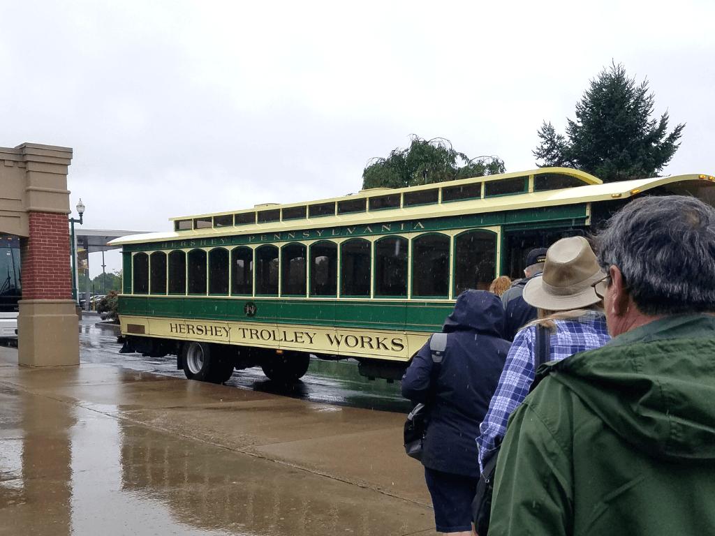 The Hershey Trolley Works operates rain or shine!